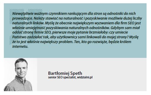 Bartłomiej Speth - senior SEO specialist
