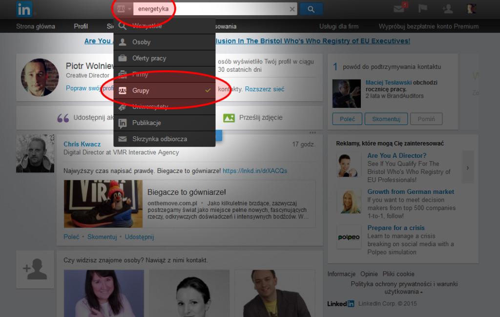 Znajdź aktywną grupę na LinkedIn i stań się jej aktywnym uczestnikiem.