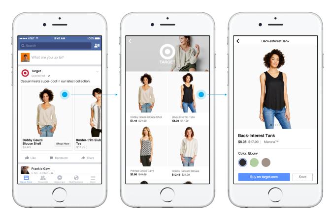 Nowy format aplikacji mobilnej Facebooka