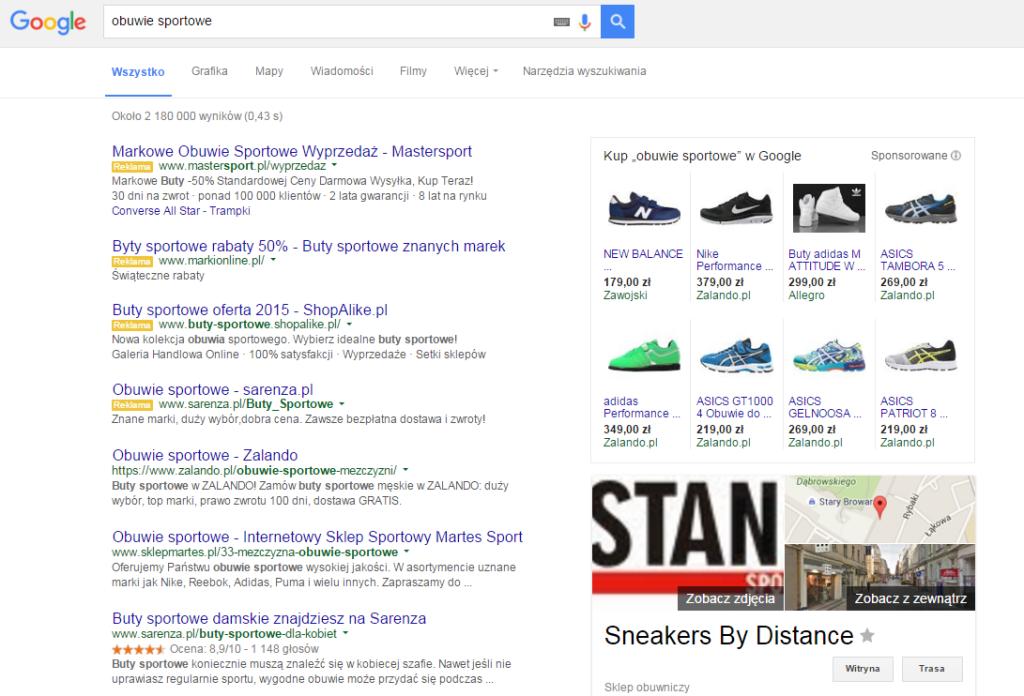 4 reklamy adwords w wynikach wyszukiwania