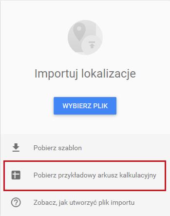 Google Moja Firma - import lokalizacji