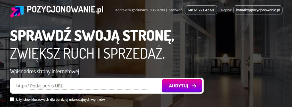 Audyt SEO na pozycjonowanie.pl